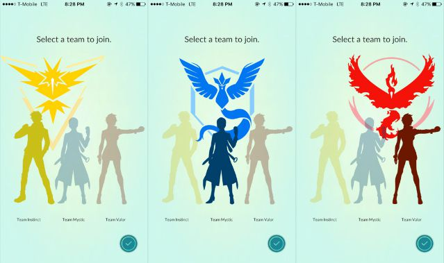 pokemongo teams